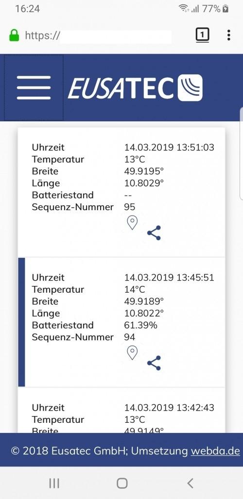 EUSATEC GPS Tracker Cloudservice
